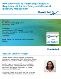 How AkzoNobel is Addressing Corporate Requirements for Lab Safety and Chemical Inventory Management